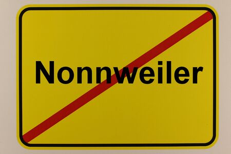 Graphic representation of the entrance sign to the town of Nonnweiler in Saarland