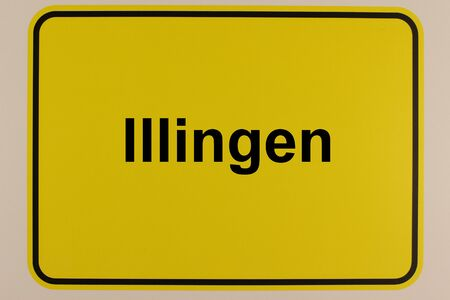Illustration of the entrance sign to the city of Illingen in Saarland