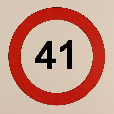 Graphic display of the road traffic sign maximum speed 41 km / h