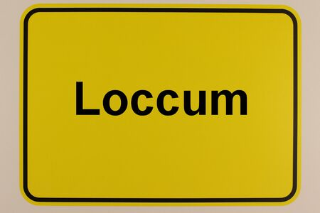 Graphic representation of the entrance signs of the city of Loccum