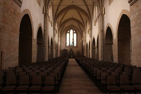 Interior view of the monastery church of Loccum Abbey in northern Germany