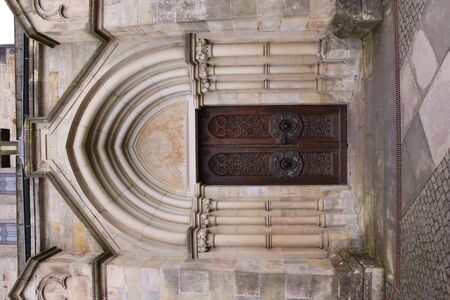 Entrance portal to the monastery church of Loccum Abbey in northern Germany Banco de Imagens