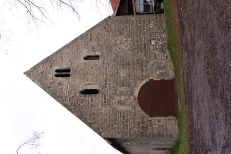 Old brick building on the monastery grounds of Kloster Loccum in northern Germany Banco de Imagens