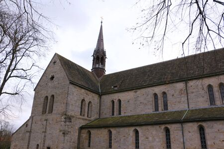 View of the monastery church from Loccum Abbey in northern Germany