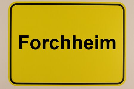 Illustration of the entrance sign of the city of Forchheim in Bavaria