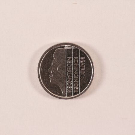 Reverse side of a former Dutch 25 cent coin