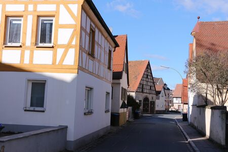 Historic buildings in the center of Forchheim in southern Germany