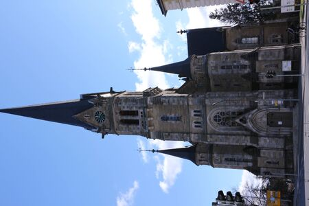Historic church in the center of Forchheim in southern Germany Banco de Imagens