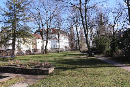 Small park in the center of the city of Forchheim in southern Germany