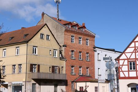 Historic buildings in the old town of Forchheim in Bavaria