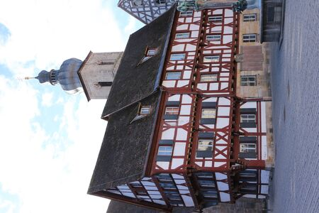 Traditional half-timbered houses in the old town of Forchheim in Bavaria