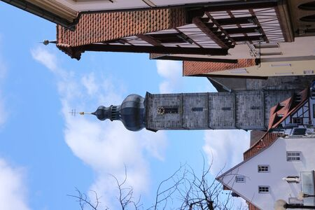 View of the church tower of St. Martin in the center of Forchheim
