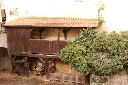 Wooden shed at Forchheim Castle Banco de Imagens