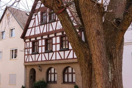 Traditional half-timbered house in the old town of Forchheim in Bavaria