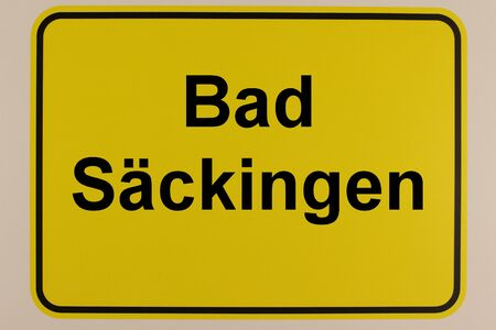 Illustration of the city entrance sign of Bad S?ckingen in southern Germany