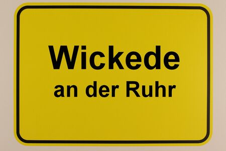 Illustration of the town sign of Wickede an der Ruhr Standard-Bild
