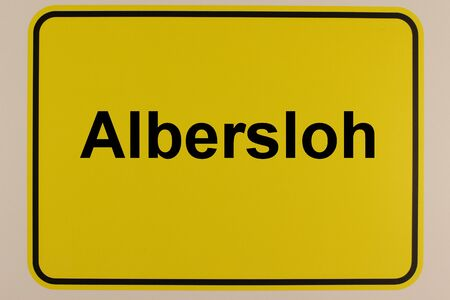 Entrance sign of Albersloh, a district of Sendenhorst in the M?nsterland