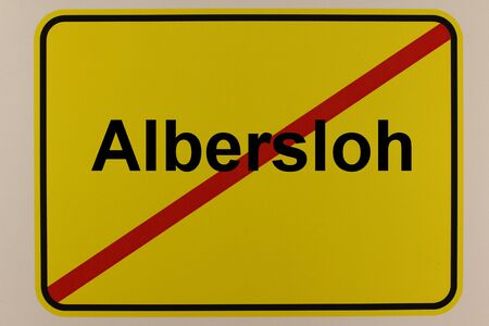 Exit sign of Albersloh, a district of Sendenhorst in the M?nsterland