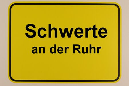 Graphic representation of an entrance sign to the city of Schwerte