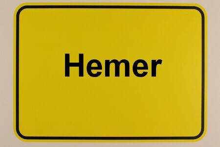 Illustration of a city entrance sign of the city of Hemer in North Rhine-Westphalia