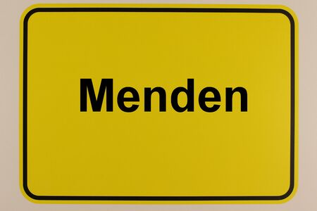Illustration of the city entrance sign of the city of Menden in North Rhine-Westphalia
