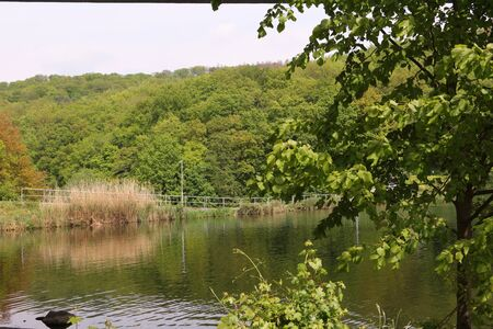 View of the Seiilersee in Iserlohn in the Sauerland Standard-Bild