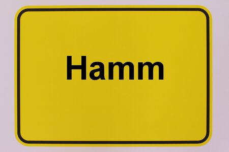 Graphic representation of the city entrance sign of the city of Hamm