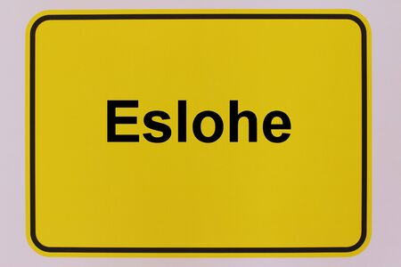 Graphic representation of the city entrance sign of the municipality Eslohe in the Sauerland