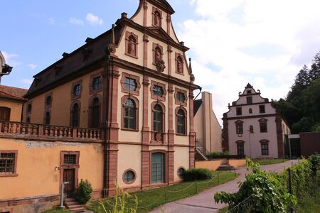 Historic buildings on the monastery grounds of Bronnbach Abbey in Wertheim