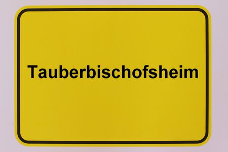 Graphic representation of the city entrance sign of the city of Tauberbischofsheim in Baden-W?rttemberg Standard-Bild