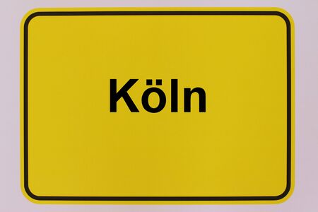 Graphic representation of the city entrance sign of the city of Cologne