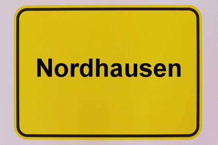 Graphic representation of the city entrance sign of the city of Nordhausen in Thuringia
