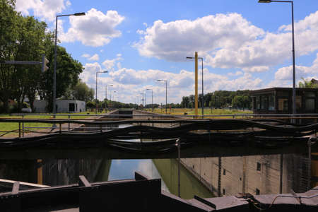 Historic part of the lock on the Dortmund-Ems Canal in Münster