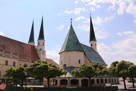 View of the Gnadenkapelle in the center of Altötting in Bavaria Banco de Imagens