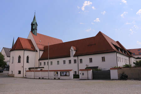 Old monastery with monastery church in the center of Altötting in Bavaria