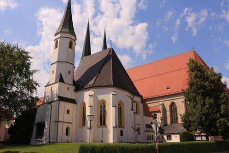 Historic church in the old town of Altötting in Bavaria