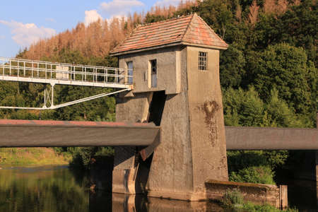 Old waterworks on the Ruhr in Wickede in the Sauerland