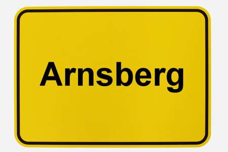 Illustration of a city entrance sign for the city of Arnsberg in the Sauerland Standard-Bild