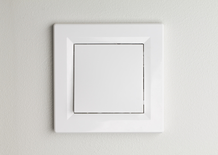 activate: Light switch, to turn off the lights. Closeup of switch only. Horizontal format.