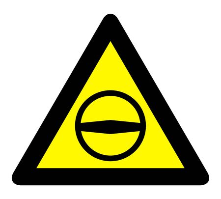 European student driver school sign. Yellow warning triangle sign, warns that there is a young driver in car. Illustration