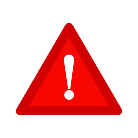 Rode driehoek waarschuwing waarschuwing alarm teken vector illustratie, geïsoleerd op een witte achtergrond. Wees voorzichtig, doe niet, stop symbool en webpictogram.