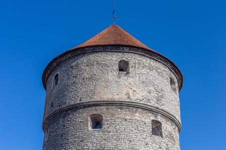 garrison: Tallinn, Estonia at historic Kiek In De Kok old retro tower musuem tourist.