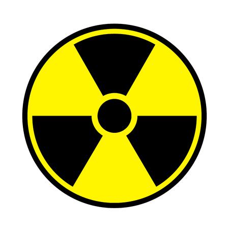 riesgo quimico: Ilustración vectorial signo tóxico, símbolo. Zona radioactiva de advertencia en el icono de triángulo aislado sobre fondo blanco. Radioactividad. Símbolo del área de radiación peligrosa. Marca química del veneno de la química. Vectores