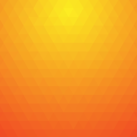 Triangle background in autumn colors. Fire colors flame red orange yellow abstract low poly simple web template background. Pattern gradient frame design gold poster.