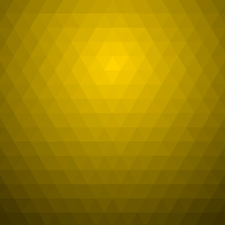 Yellow abstract geometric rumpled pattern.