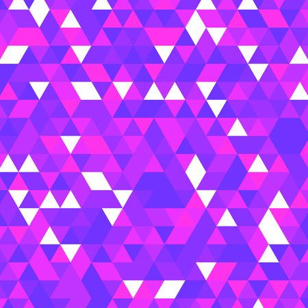 Violet fuchsia abstract geometric rumpled triangular low poly style vector illustration graphic background. Dark black and violet colors details web template Banco de Imagens