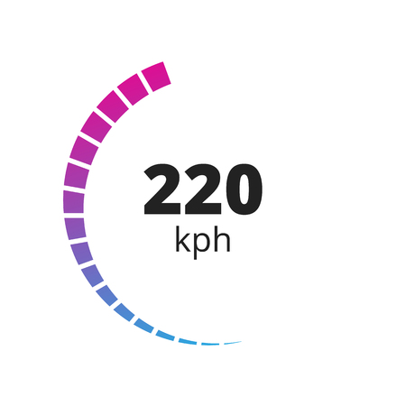 Speedometer Icon, vector. Speedometer flat sign for logo and web usage.