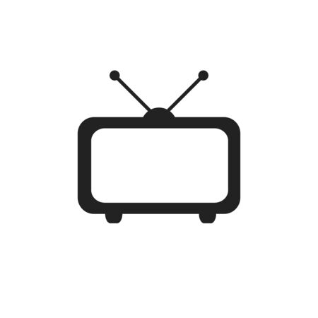 Tv Icon in trendy flat style isolated on grey background. Vector illustration,