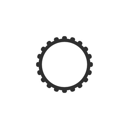 Gear icon vector, flat design best vector icon.