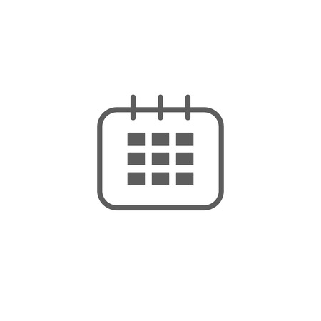 Calendar Icon in trendy flat style isolated on grey background. Calendar symbol for your web site design, logo, app, UI. Vector illustration, EPS10